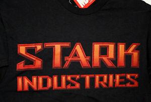 Marvel Comics Invincible Iron Man Stark Industries logo T-Shirt New Med