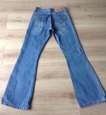 LEVI'S 516 BOOTCUT / FLARED JEANS SIZE 27 X 32 VGC MADE IN SPAIN