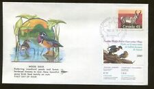 1990 Canada Wildlife Conservation Duck Stamp #CN6 Gill Craft First Day Cover