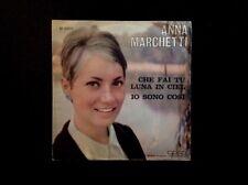 ANNA MARCHETTI. CHE FAI TU LUNA IN CIEL 45Rpm Meazzi Label Italy 1965
