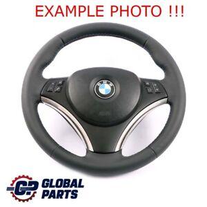 """BMW E81 E87 E90 E91 E92 M Sport Look """"Nuevo"""" Volante Cuero Deportivo Tri-Colore"""