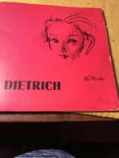 Alexander H. Cohen Presents Marlene Dietrich BOOK AND 45 RPM RECORD SCARCE PICS