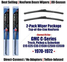 2-Pack NeoForm Wipers fit 1970-1972 GMC C15 C25 C35 C1500 C2500 C3500 - 16140x2