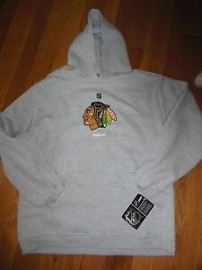Chicago Blackhawks Boys Reebok Pullover Hooded Front Pocket Sweatshirt