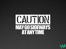 Precaución puede ir hacia los lados en cualquier momento Divertido Drift Car Patines Vinilo Calcomanía Pegatina