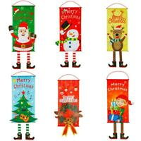 Christmas Hanging Flag Polyester Bunting Pennant Xmas Decor Party Supplies Decor