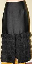 Womens Black Skirt with Haired Hem - C/MEO Collective - Size S