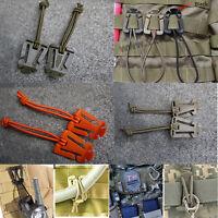 1Pc Tactical Dominator Elastic Cord Hang Buckle Clip PALS MOLLE EDC Webbing SI