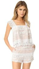 The Jetset Diaries White Lace Top And Shorts Lupita 2 Piece Set size small