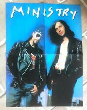 poster affiche revue magazine français Rock MINISTRY 55x41cm