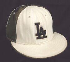 LA Los Angeles Dodgers New Era 5950 Fitted 7 3/8 Baseball Cap Hat White Camo MLB