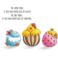 New Stamping Bella Cling Rubber Stamp THE GOOD EGG CHICK EASTER  SET OF 4