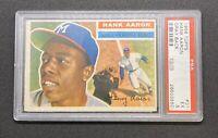 Hank Aaron 1956 Topps #31 PSA 5 EX HOF. Gray Back. HR King. Great Investment📈📈