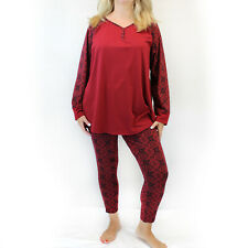 Cacique by Lane Bryant Plus Burgundy Snowflake Christmas Pajamas Size 18/20