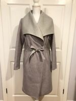 Soia & Kyo Women's Oxanny-SP Double Face Wool Coat Size XS Grey/Pink