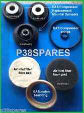 RANGE Rover P38 Sospensione Pneumatica EAS COMPRESSORE Mounts GUARNIZIONI ANELLI & Filtro PADS