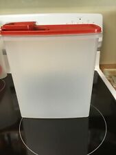 Tupperware Large Store n Pour Cereal Keeper Flip Top Lid 1588-8 Red Lid