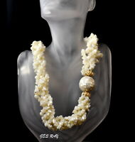 Multi Strand Shell Mother of Pearl Necklace