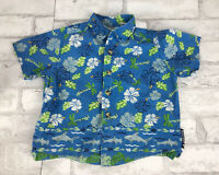 Vintage Buster Brown Blue Hawaiian Shirt Tropical With Sharks Toddler 24 Month