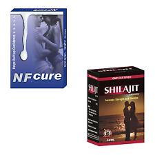 Herbal Remedies For Semen Discharge During Sleep 120 NF Cure Caps + 120 Shilajit