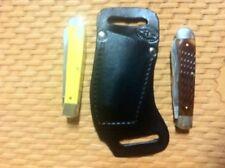 Custom Horizontal Cross Draw Carry Knife Sheath  Case Trapper Puma Trapper Black
