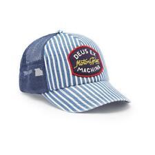 DEUS EX MACHINA FORD TRUCKER BASEBALL HAT CAP BLUE STRIPED  ONE SIZE NWT