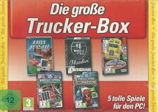 CD-ROM + Die große Trucker Box + 5 CDs + 5 tolle Spiele + LKW + Convoy + Win 7