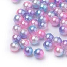 Girly glänzend Acrylic dunkellila 10 Cabochons aus Acryl in violett 12mm