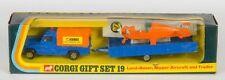 Corgi Gift Set 19 Land-Rover, Nipper Aircraft & Trailer. VNMint/Boxed. 1972