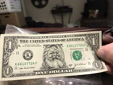 The Santa Claus $1 Dollar Money Santa Dollar New