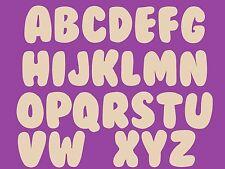 Sujet ou support a decorer en bois medium mdf alphabet bubble 10cms