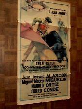 Affiche Corrida Marbella Jimenez Convention Tracteur MASSEY FERGUSON poster