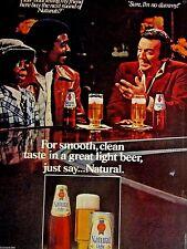 "1979 Willie Tyler & Lester the Dummy Natural Light Original Print Ad-8.5 x 10.5"""