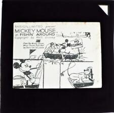 More details for mickey mouse in fishin around set of 8 walt disney magic lantern slides