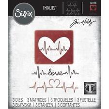 Sizzix Tim Holtz Thinlits Die Set - HEARTBEAT