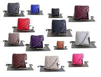 Ladies Womens Small Italian Leather Quilted Shoulder Bag Crossbody Bag Handbag