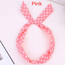Cute Korean Dots Bunny Rabbit Ear Ribbon Headwear Hairband Metal Wire Scarf JJUK