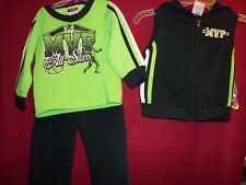 MVP All Star Football 3 pc Hoodie Vest, Top & Pants Track Suit size 18 Month New