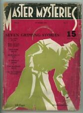 Master Mysteries 1934 Summer; RARE; Leo Manso Cover Art
