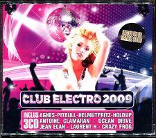 CLUB ELECTRO 2009 - 3 CD COMPILATION NEUF ET SOUS CELLO