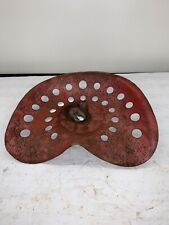 Antique Heavy Press Steel Farm Tractor Implement Seat Painted Red
