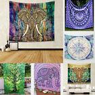 Indian Mandala De Elefantes Hippie Tapiz Decoración De Pared Gitano Manta Colcha