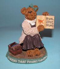"Boyds Bears #228432 ""Miss Appleton.Story Time"" figurine Nib 2004 teacher books"
