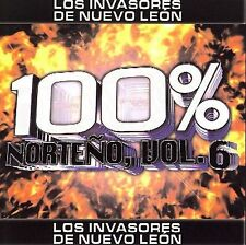 100% Norteno, Vol. 6 by Los Invasores de Nuevo León CD ALL CD'S ARE BRAND NEW