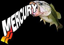 Mercury Bass Decal Orange/Red