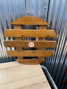 """Round Wood Plant Caddy/Dolly 14"""" Diameter Rolling Wheels Lot G"""