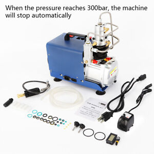 Fits Industrial Air Tightness Test 300bar Automatically Stop Compressor Pump New