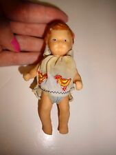"Vintage Rubber Baby 4"" Doll"