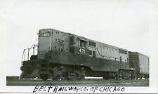 5H192 RP 1940s? BELT RAILWAY OF CHICAGO LOCO #471 PROVISO YARDS