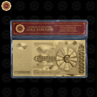 WR European 1 Million Euro Note 24K Gold Foil Novelty Banknote Money In COA Case